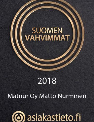 Matto Nurminen, Suomen Vahvimmat 2018